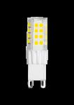 LED Stiftsockellampe 230V 4,2W G-9 2900K (nur 17x54mm) (EEK: A+)