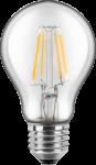 LED Filament Glühfaden Birne 230V 6W E-27 2700K Glas klar (EEK: A++)