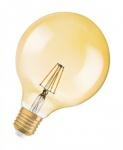 Osram Vintage 1906 LED DIM Classic Globe125 Filament Gold 6.5-51W/824 E27 650lm ultra warmweiß dimmbar