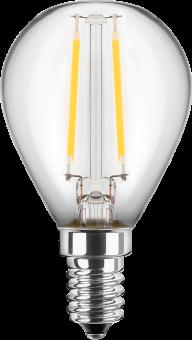 LED Filament Glühfaden Tropfen 230V 2W E-14 2700K Glas klar (EEK: A++)