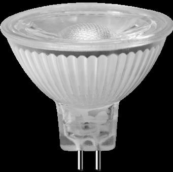MR-16 LED Strahler 12V 5W GU-5,3 3000K 36°, COB, Glas (EEK: A+)