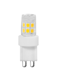 LED Stiftsockellampe 230V 2,3W G-9 2900K (nur 16x41mm) (EEK: A++)