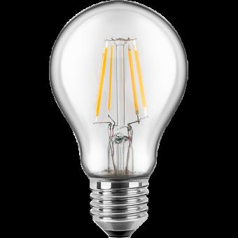 LED Filament Glühfaden Birne 230V 4W E-27 2700K Glas klar (EEK: A++)