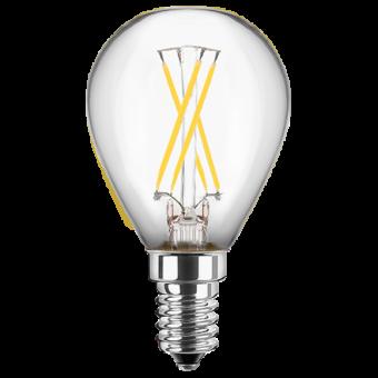 LED Filament Glühfaden Tropfen 230V 4W E-14 2700K Glas klar (EEK: A++)