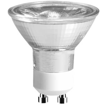 LED Strahler 230V 3W GU-10 2700K 36°, COB, Glas (EEK: A+)