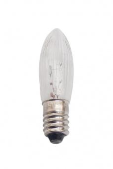 Topkerze Kerzenlampe C13x44 34V 3W E-10 klar geriffelt (Lichterkette)