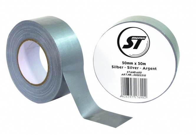 Stagetape Gaffa Klebeband STANDARD 50mm x 50m silber