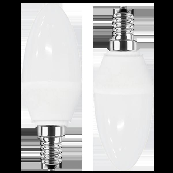 LED Kerze 230V 3W E-14 2700K, DOPPELPACK (EEK: A+)