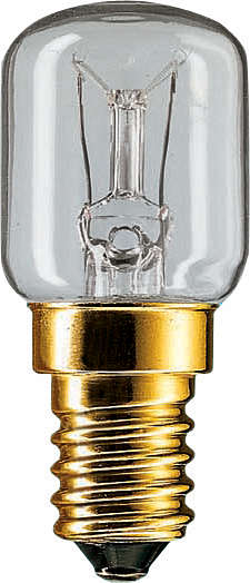 PHILIPS T25x57 230V 15W E-15 klar Kühlschranklampe (EEK: E)