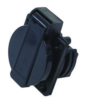 Klappdeckel-Einbausteckdose sw 230V 16A