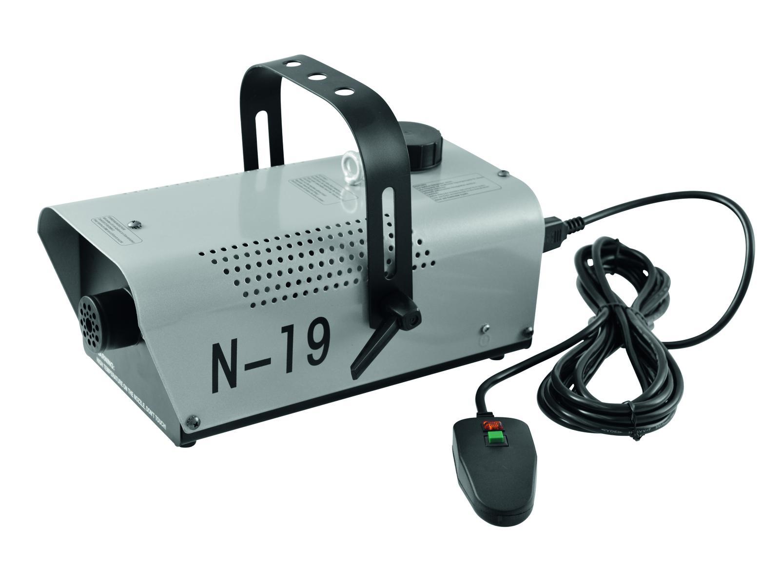 EUROLITE Nebelmaschine N-19, silber mit ON/OFF