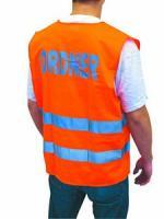 Warnweste orange, ORDNER (100% Polyester)