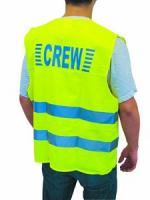 Warnweste gelb, CREW (100% Polyester)
