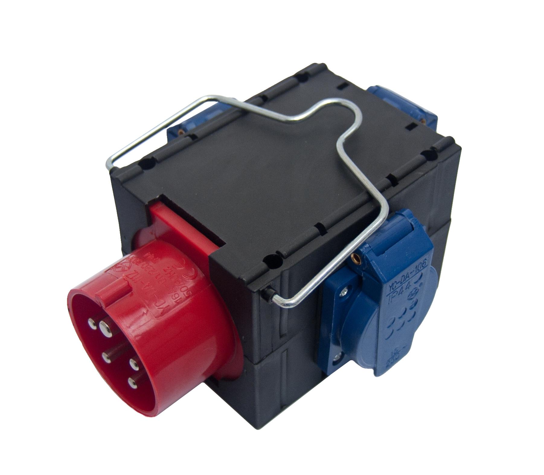 Stromverteiler CEE 16A, 3x Schuko-Steckdose (IP44)